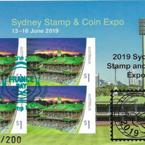 Sydney 2019 Mini Sheets overprinted silver - set of 4